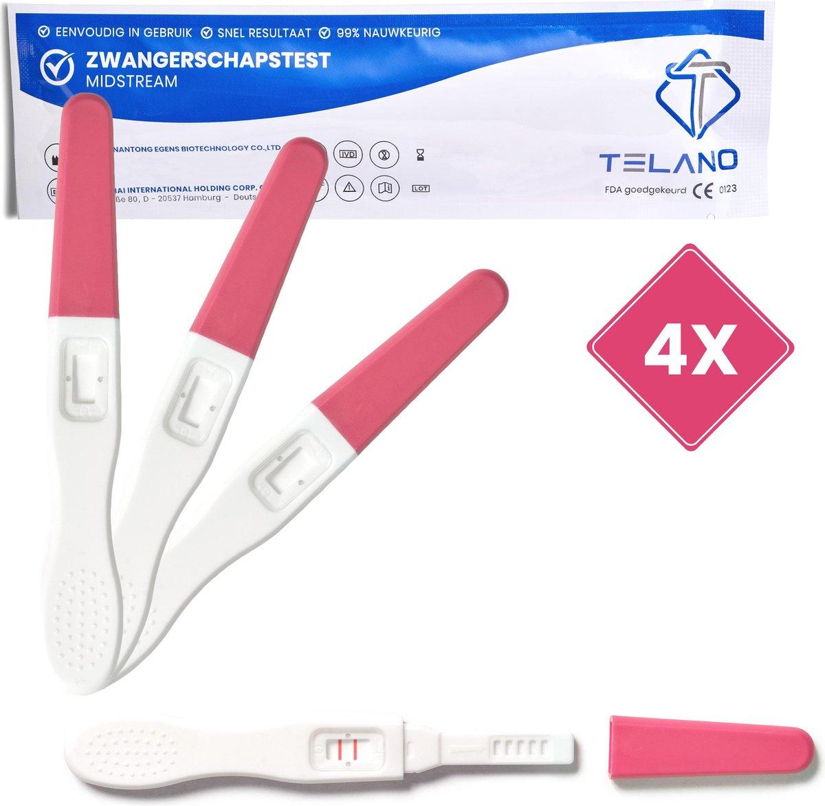Telano Zwangerschapstest Midstream Extra Vroeg 4 stuks - Extra Gevoelig