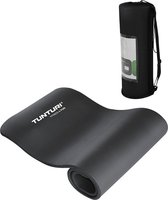 Tunturi Fitnessmat Inclusief Tas 15 Millimeter Zwart