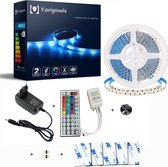 Y.Originals- LED-strip- 5 meter- met afstandsbediening- instelbaar op 20 verschillende kleuren en dimbaar-IP20- led light strip- led lampjes- lampjes- led lights- ledstrip 5 meter