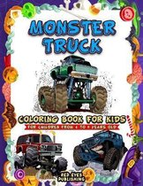 Monster Truck Coloring Book For children from 4 to 9 years old