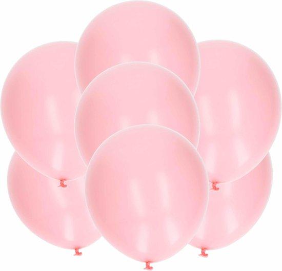 30x stuks lichtroze latex ballonnen van 27 cm - Party verjaardag feestartikelen en versiering
