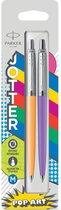 Balpen Parker Jotter Original Popart 60's - marigold en frosty purple - kadoverpakkin (2 stuks)