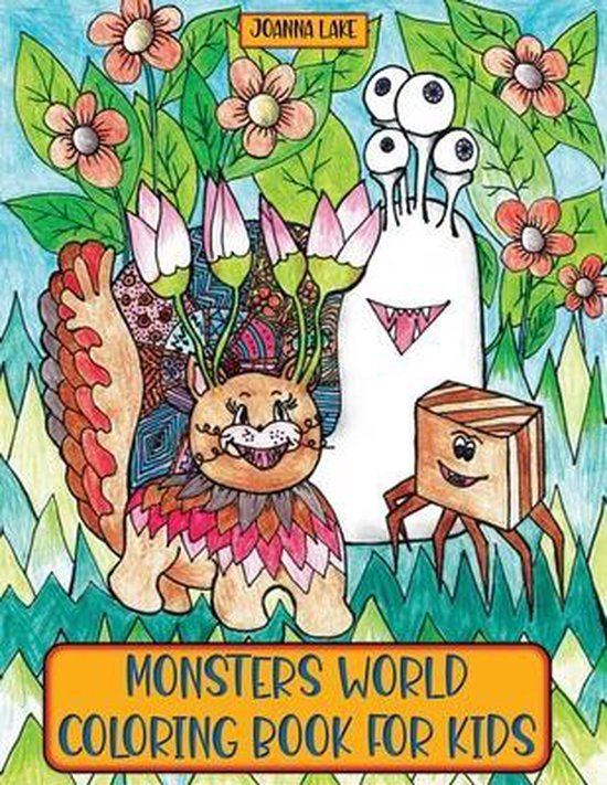 Monsters World Coloring Book for Kids