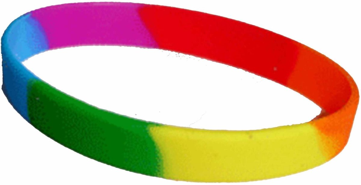 Siliconen armband regenboog
