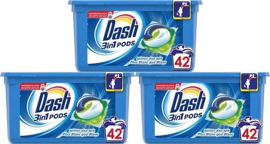 Dash - 3in1 Waspods - Regular - 3 x42 (126) pods - Voordeelverpakking - Wascapsules - Wasmiddel pods