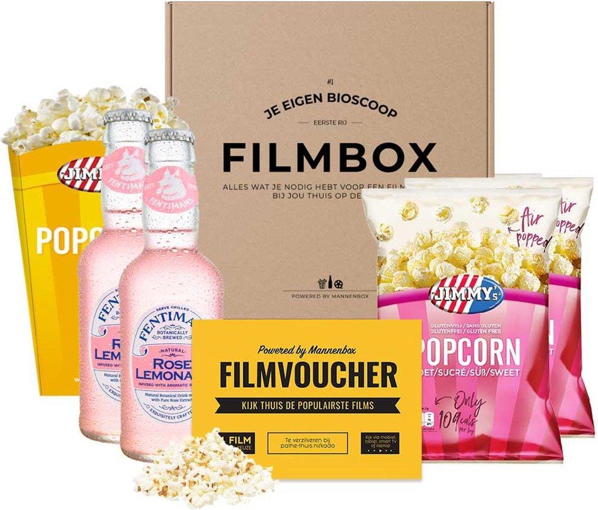 Filmpakket met Rose Lemonade - je eigen thuisbioscoop!   Filmbox   Cadeaupakket voor vrouwen   Roze