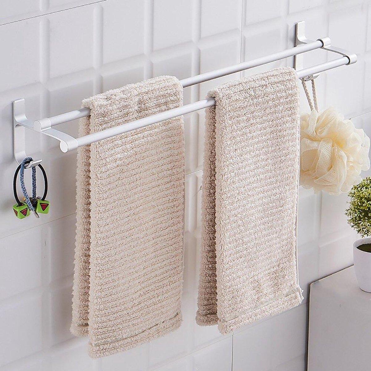 Luxe Handdoekrek Zelfklevend - Handdoekhouder Badkamer - Wandrek - Handdoek Rek - Badkamer Accessoires