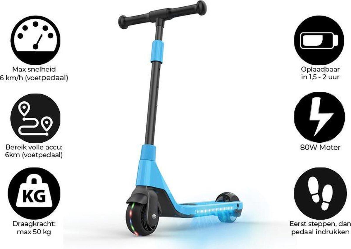 """Denver SCK-5400BLUE / Elektrische step / 4.5"""" wielen / Max snelheid 6 km / Met coole LED verlichting / Blauw"""