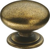 "AVENUE decoration meubelknop | model "" Loire "" | 33 x 28 mm | oud messing"