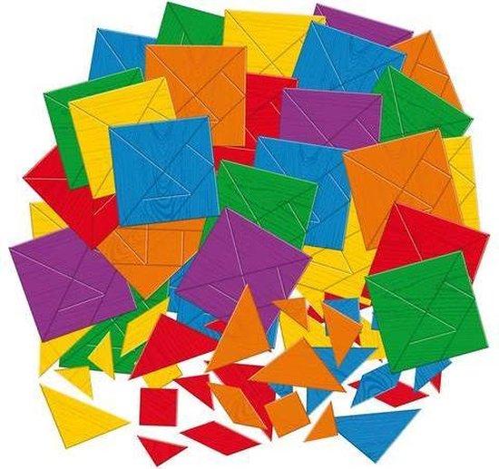 Afbeelding van het spel Tangram puzzelmozaïek - set van 100 puzzelplaten - 700 tangramvormen - tangram voor kinderen - voor cognitieve ontwikkeling - incl 72 downloadbare puzzelkaarten