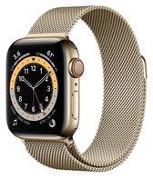 Apple Watch Armband Series 1/2/3/4/5/6/SE 38/40 mm Horloge Bandje - iWatch Milanees Watchband Polsband Luxe Milanese Loop - Roestvrij staal - Horlogeband Magneet Sluiting - Goud