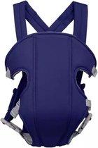 Baby Draagzak Blauw - Baby Carrier – Baby Drager max. 15 kg - 2 tot 18 Maanden - Ergonomisch - Baby Draagdoek - Heupdrager - Steundrager Baby