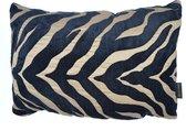Woonkussen tijgerhuid, tijgerstrepen, tijger goud, zwart, en brons ingeweven, velvet kussen. Safari, dierenprint, tijger, olifant, giraffer, panter kussen