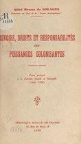 Devoirs, droits et responsabilités des puissances colonisantes