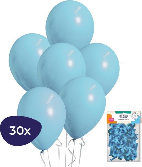Blauwe Ballonnen – Geboorte Versiering Jongen – Babyshower Versiering – Helium Ballonnen – 30 stuks