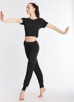Temps Danse Alto Dans en Yoga pants - Dames - Yogabroek - Sportbroek - Dansbroek - Pilates - Viscose - Zwart - XL