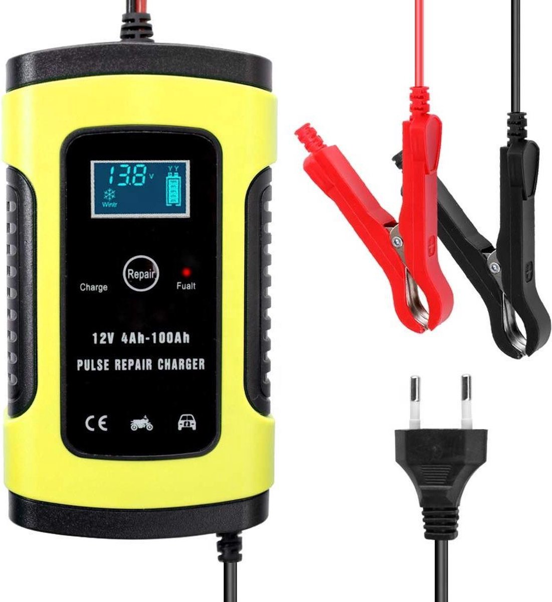 Acculader - Druppellader - Acculader voor Auto Motor Scooter Boot Camper - Reparatie Modus - 12V 6A