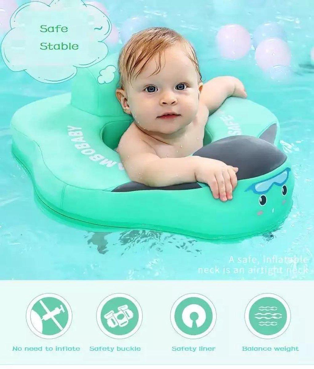 Air Free Seat Baby Float - Zwemzitje - Niet opblaasbare Zit Float - Flotador Zwemmen - Zwemband | Mintgroen