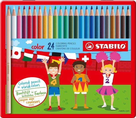 Afbeelding van STABILO Color - Kleurpotlood - Intense Kleuren En Makkelijke Kleurafgifte - Metalen Etui Met 24 Kleuren