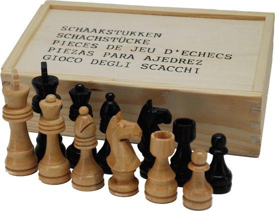 Afbeelding van het spel Schaakstukken maar 3 in houten kist