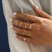 11 delige ringen set minimalistisch goud