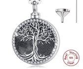 Dutch Duvall | Ashanger Levensboom met ketting zilver sterling (.925) | Assieraad van zilver inclusief vulset twv 7,95 euro