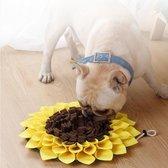 Snuffelmat - Hondenspeelgoed - Snuffelmat hond - Anti schrok snuffel en speelmat - Intelligentie speelgoed - Kattenspeelgoed - Brokjes - Eten - Puppyspeelgoed - Gedrag - Snoepjesmat - Eten - Zonnebloem - Trainingsmat - Eten verstoppen - Voermat