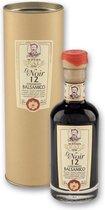 Balsamico crème Le Noir '12 Travasi' gouden koker - 12 jaar van 250ml - acetaia reale Da Magreta