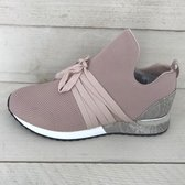 Lastrada knitted met laces nude 39