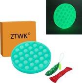 ZTWK© - Fidget toys pop it - glow in the dark groen - Fidget toys + 1 pea popper - groen