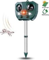 Ultrasone Kattenverjager - Kattenschrik - Zonneenergie - Marterverjager - Op batterijen - Met adapter - Katten afweermiddel - Tuin - Ongedierte verjager