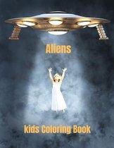 Aliens Kids Coloring Book