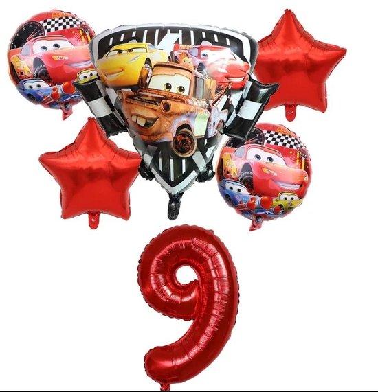 Ballonboeket Cars, Takel 6/9 kindercrea