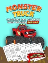 Monster Truck Coloring and Activity Book For Kids Ages 4-8