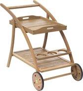 MaxxGarden Serveerwagen - Voor tuin terras en keuken - Keukentrolley acacia