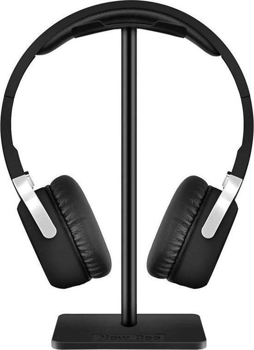 Zwarte Hoofdtelefoonhouder | Van hoogwaardig zwart aluminium | Universele Koptelefoon houder | Stand koptelefoonhouder standaard | Headset over-ear-hoofdtelefoon, gaming-headset en hoofdtelefoonscherm