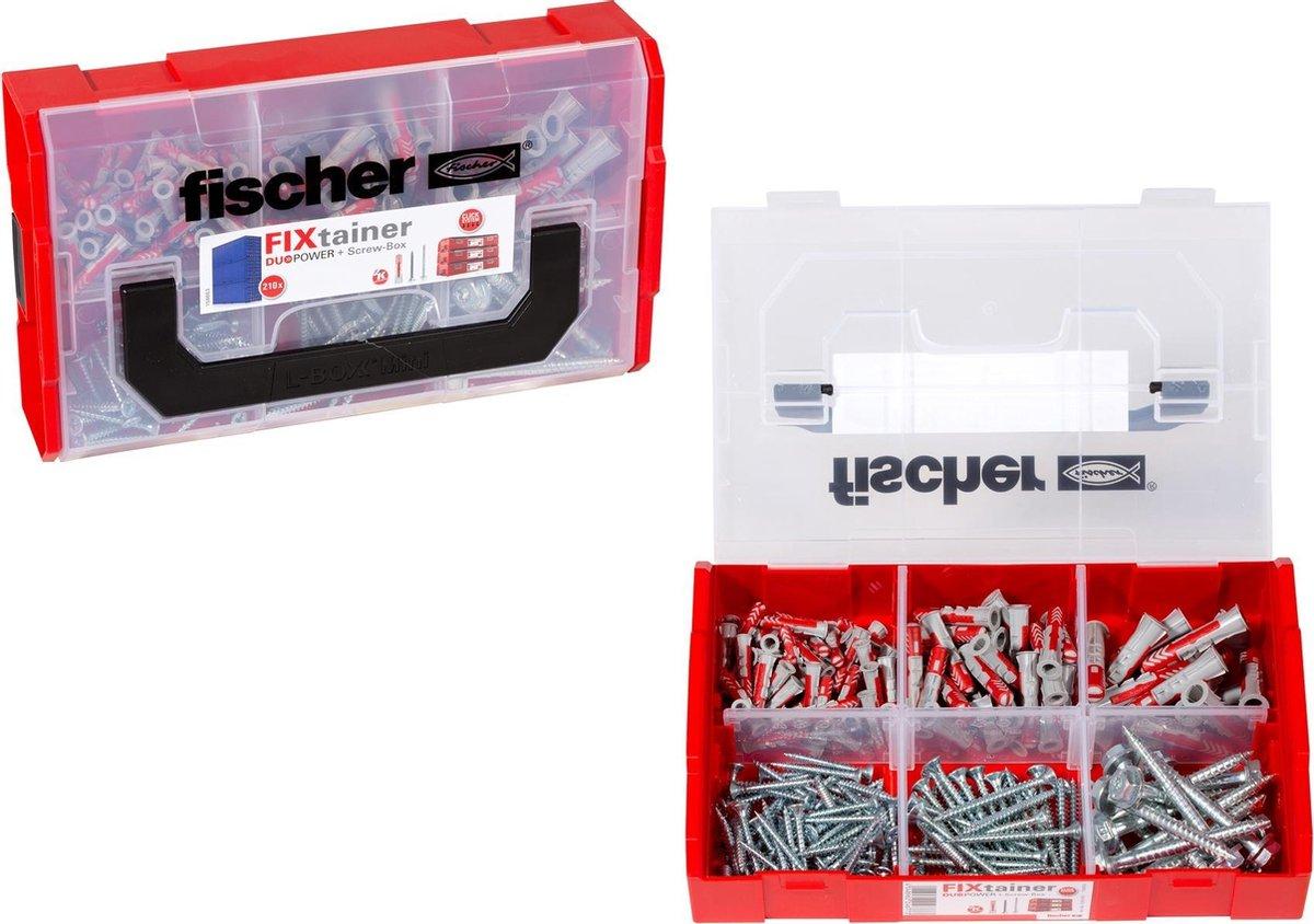 Fischer Assortimentsdoos - Fixtainer pluggen- en schroevenset - Duopower - 210-delig - 536162