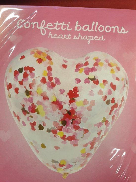 Confettiballon hart liefde, 30cm kindercrea