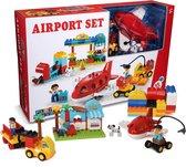 Play&Build Airport Set - Vliegveld Set (Compatible with Duplo & Mega-blocks)