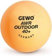 Gewo Tafeltennisballen AWR Outdoor 40+ - box van 6 ballen - Oranje - Ping Pong Ballen