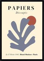 Poster Henri Matisse - Papiers Decoupes - Abstracte Kunst Print - Cut Outs - Art