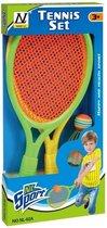 Mega Creative   tennis set   2x racket + shuttle + balletje   kinderspeelgoed -sport
