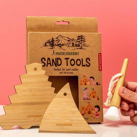 Kikkerland - Huckleberry - Zandtools - Zandkasteel - Strand tools - Bamboe
