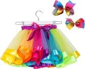Gekleurde meisje tutu rok - tule meisjes rok - Regenboog kleuren meisjes rok - maat 110/116/122/128 - meisjes rok 5 - 8 jaar