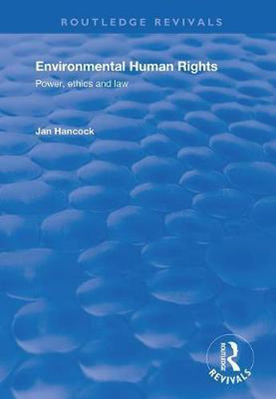 Boek cover Environmental Human Rights van Jan Hancock (Paperback)