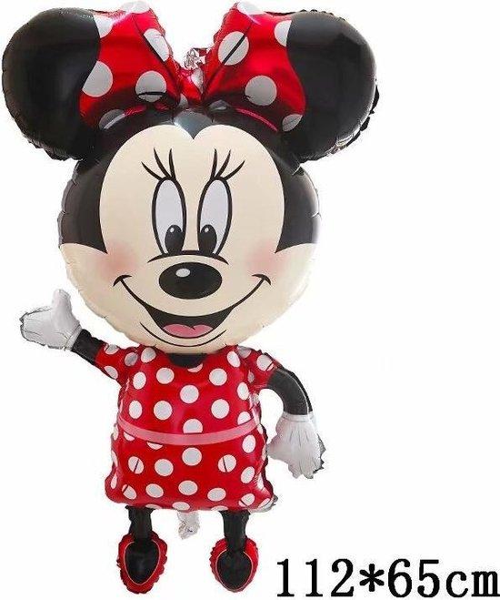 Mickey Mouse Ballon Disney  Met Rietje,Helium Ballonnen ,Verjaardag Decoratie .112x65cm Ballon & Straw