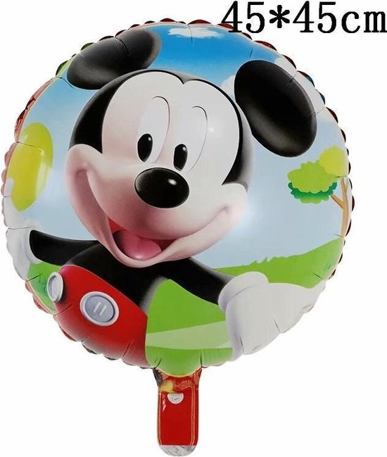 Mickey Mouse Ballon Disney Met Rietje,Helium Ballonnen ,Verjaardag Decoratie Ballon 45x45cm & Straw