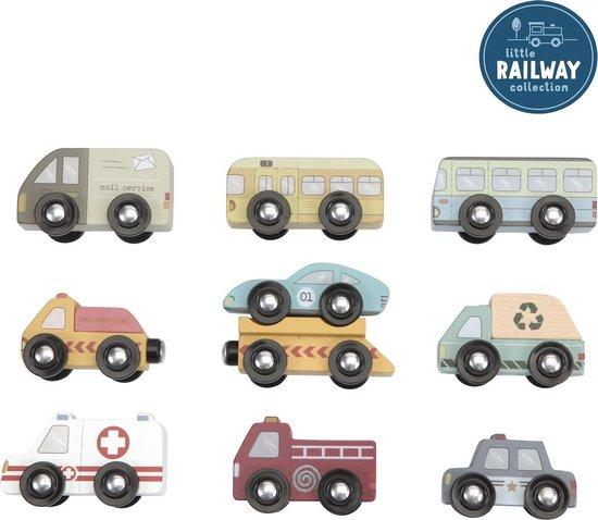 Product: Little Dutch Treinbaanuitbreiding - Voertuigenset, van het merk Little Dutch