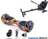 Hoverboard   6.5 Inch Wielen   Self Balance Hoverboard met Hoverkart   Oxboard   Bluetooth Speakers   Hiphop Orange