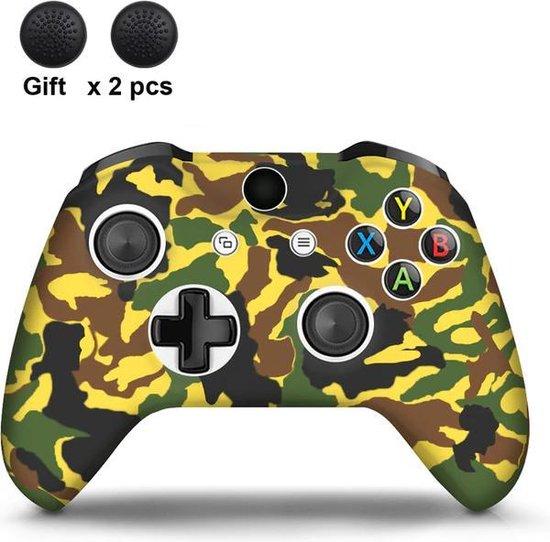 Gadgetpoint!   Xbox One   Siliconen Controller Hoesjes   Camo   Geel